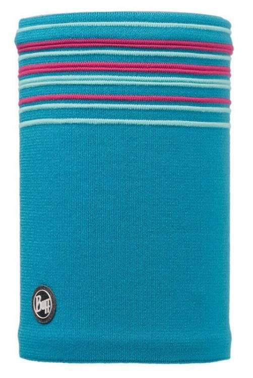 Komin Neckwarmer Buff Knitted Polar Fleece Stowe Blue Capri