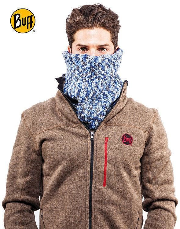 Komin Neckwarmer Buff Knitted Polar Fleece Stowe Grey Castlerock