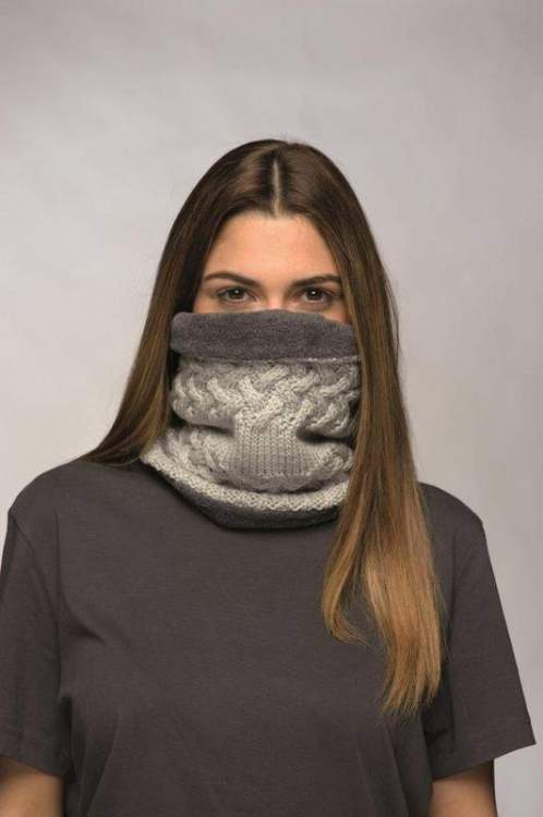 Komin Neckwarmer Buff® Knitted Polar Rev GREW