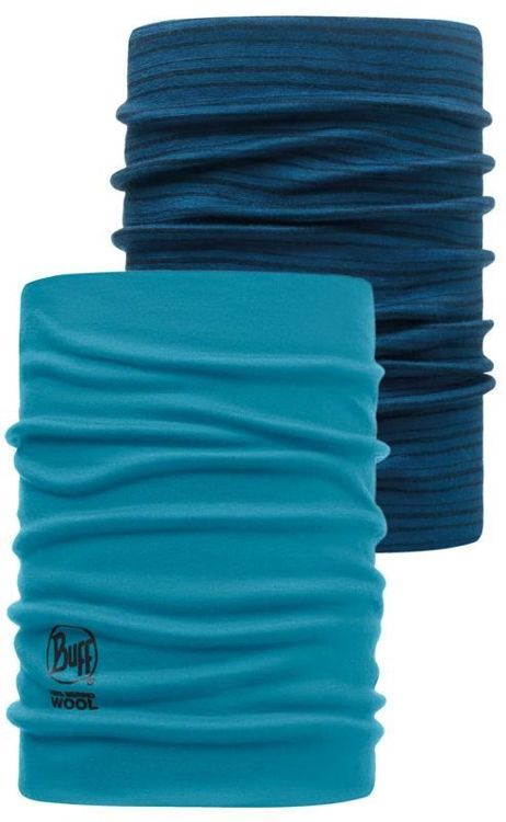 Komin Neckwarmer Wool Buff BLUE CAPRI