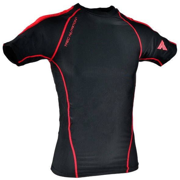 "Koszulka Trec Nutrition MEN'S TREC PROMO - SMALL RED LOGO ""T"" AND ""TN"" - RASH/T-SHIRT COMPRESSION/BLACK-RED"