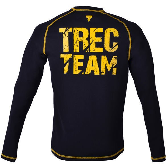 "Koszulka Trec Nutrition MEN'S TREC WEAR - BIG YELLOW LOGO ""T"" + TREC TEAM - RASH 009/LONG SLEEVE/BLACK"
