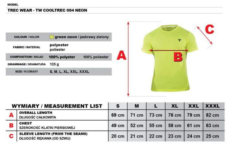 Koszulka Trec Nutrition MEN'S TREC WEAR - COOL TREC 004 - T-SHIRT/NEON