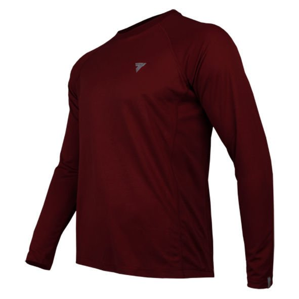 Koszulka Trec Nutrition MEN'S TREC WEAR - COOLTREC 014 - LONG SLEEVE/MAROON