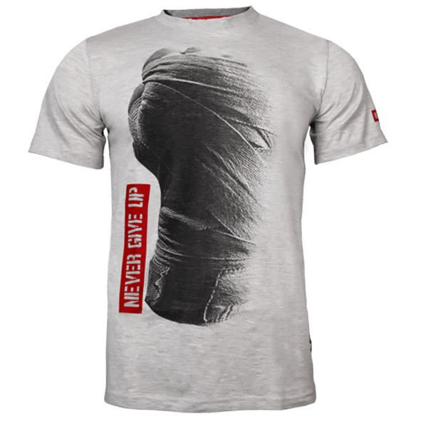 Koszulka Trec Nutrition MEN'S TREC WEAR - NEVER GIVE UP - T-SHIRT 034/MELANGE