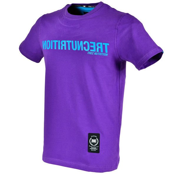 "Koszulka Trec Nutrition MEN'S TREC WEAR - REVERSED BLUE LOGO ""TN"" - T-SHIRT 017/PURPLE"