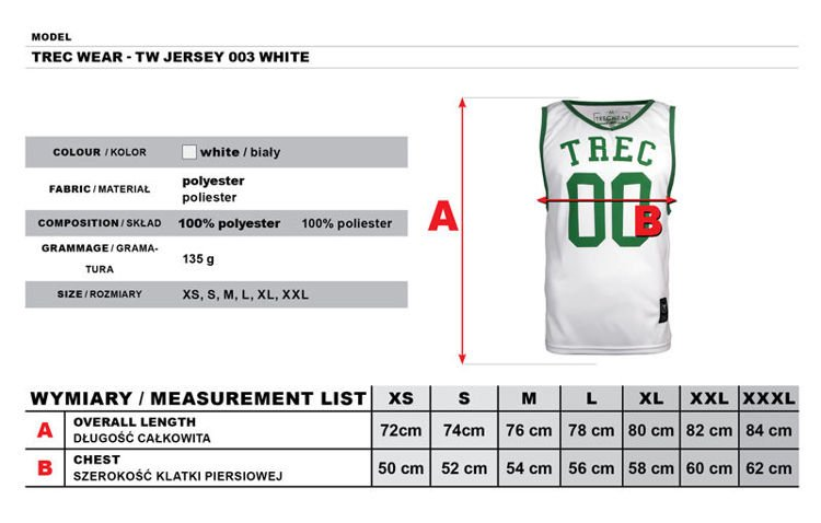 Koszulka Trec Nutrition MEN'S TREC WEAR - TANK TOP - JERSEY 003/WHITE