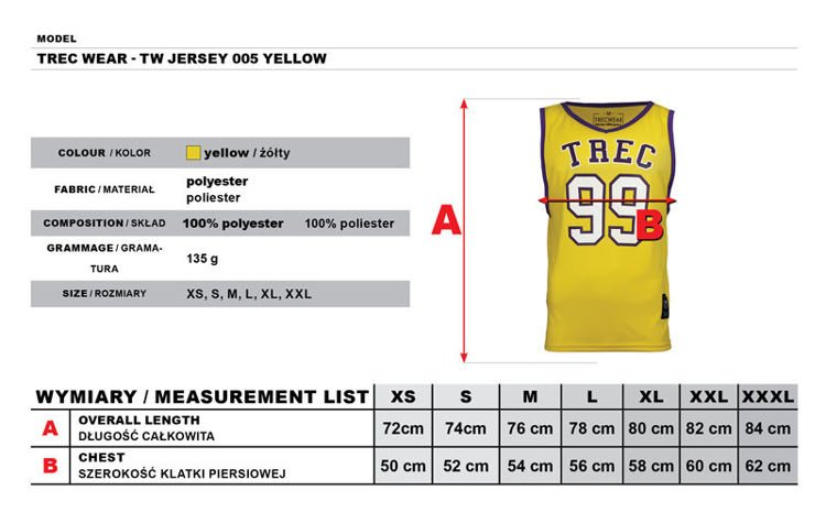 Koszulka Trec Nutrition MEN'S TREC WEAR - TANK TOP - JERSEY 005/YELLOW