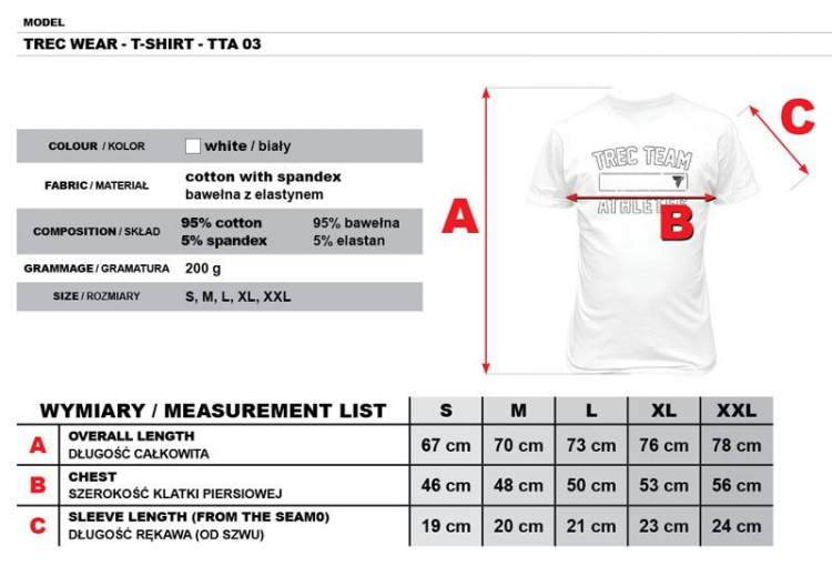 Koszulka Trec Nutrition MEN'S TREC WEAR - TREC TEAM ATHLETES - T-SHIRT 003/WHITE