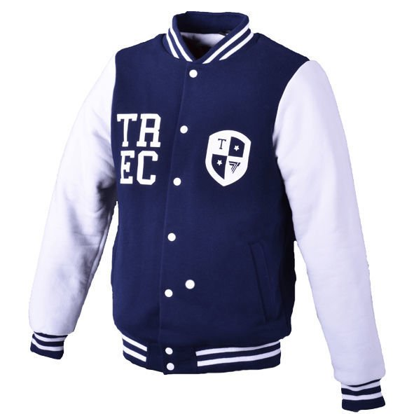 "Kurtka Trec Nutrition MEN'S TREC WEAR - WHITE LOGO ""TREC"" - JACKET 002/NAVY BLUE-WHITE"