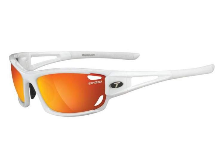 Okulary TIFOSI DOLOMITE 2.0 pearl white (Smoke Red, Smoke Brt. Blue, Clear)