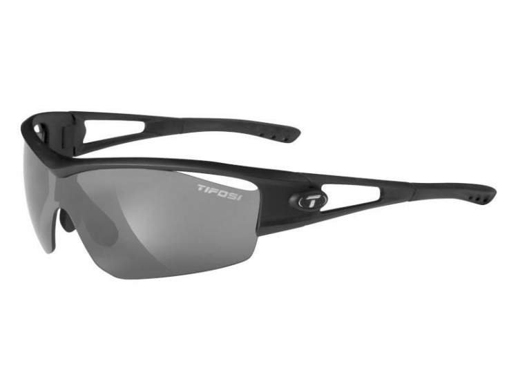 Okulary TIFOSI LOGIC matte black (Smoke, AC Red, Clear)