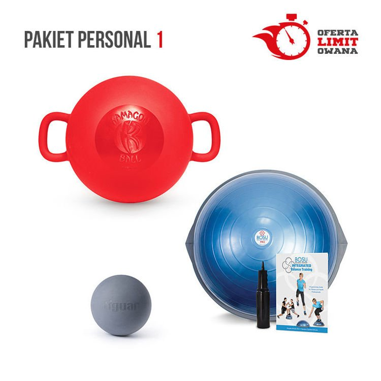 Pakiet Personal 1: BOSU Pro + Kamagon + tiguar MFR ball by OM