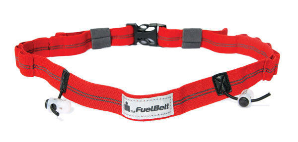 Pas startowy FuelBelt Gel Ready Race Number Belt Ironman Red/Carbon
