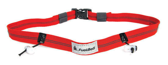 Pas startowy FuelBelt Reflective Race Number Belt Ironman Red/Carbon