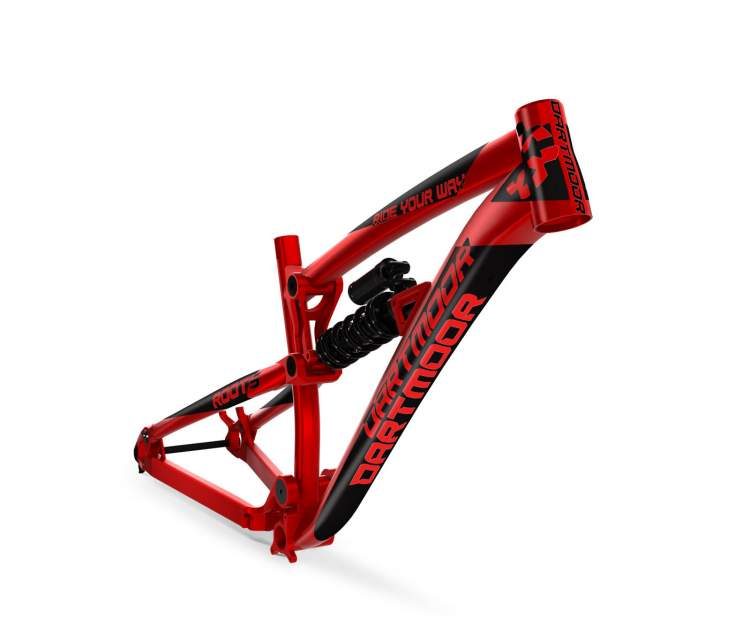 Rama Dartmoor Roots, z damperem sprężynowym RS Kage RC 222x69, red devil, L