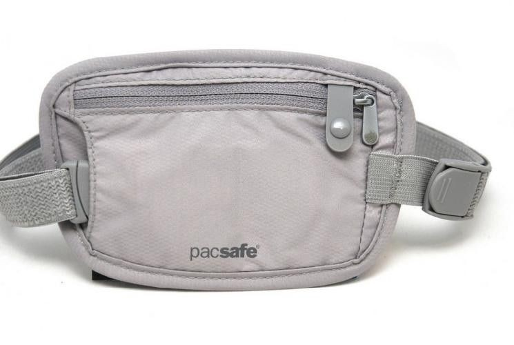 Sekretny portfel na pasek Pacsafe Coversafe 25 - neutral grey