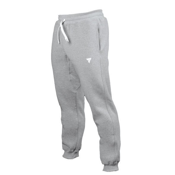 "Spodnie Trec Nutrition MEN'S TREC WEAR - SMALL WHITE LOGO ""TREC"" - WELT ON LEG - PANTS 027/GRAY"