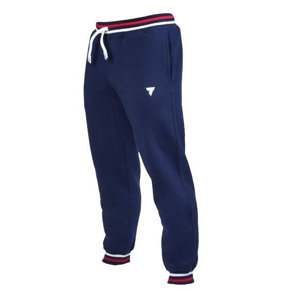 "Spodnie Trec Nutrition  MEN'S TREC WEAR - SMALL WHITE LOGO ""TREC"" - WELT ON LEG - PANTS 029/NAVY"