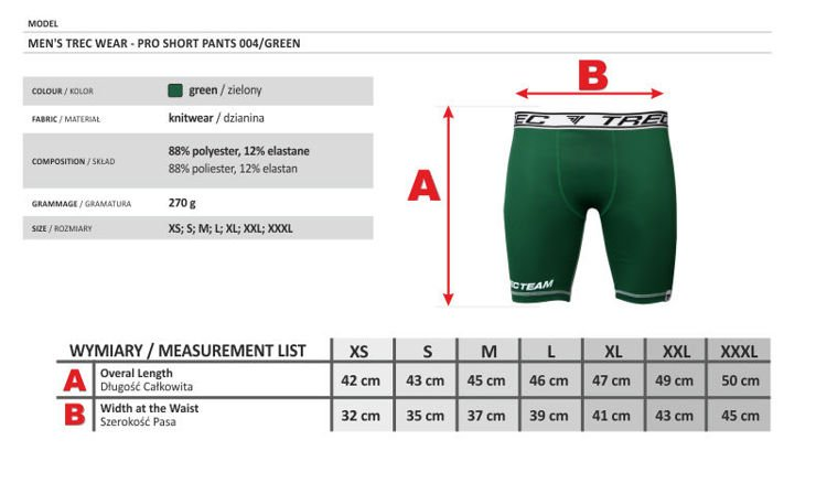 Spodnie Trec Nutrition MEN'S TREC WEAR - TREC TEAM - PRO SHORT PANTS 004/GREEN