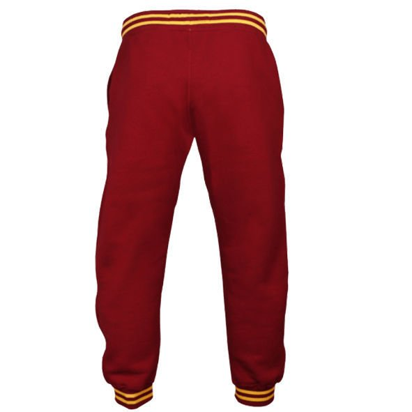 "Spodnie Trec Nutrition MEN'S TREC WEAR - YELLOW LOGO ""TREC"" - WELT ON LEG - PANTS 030/MAROON"