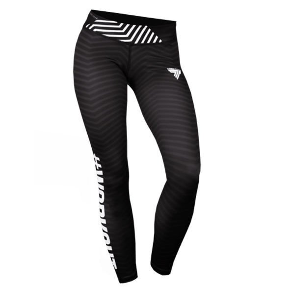 Spodnie Trec Nutrition WOMEN'S TREC WEAR - TREC GIRL 004 - LEGGINS/BLACK-WHITE