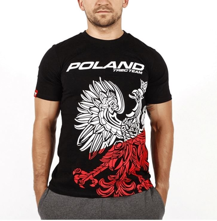 T-shirt Trec Nutrition MEN'S TREC WEAR - TEAM POLAND - T-SHIRT 041/BLACK