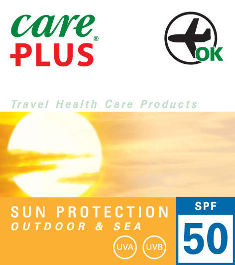 Wodoodporna emulsja do opalania SPF 50 - Care Plus Outdoor&Sea SPF 50, 100ml