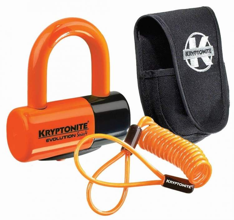 Zapięcie rowerowe Kryptonite Evolution Series 4 Disc Lock Orange Premium