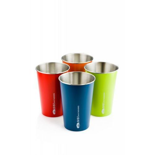 Zestaw kubków GSI Outdoors Glacier Stainless Pint Set - multicolor