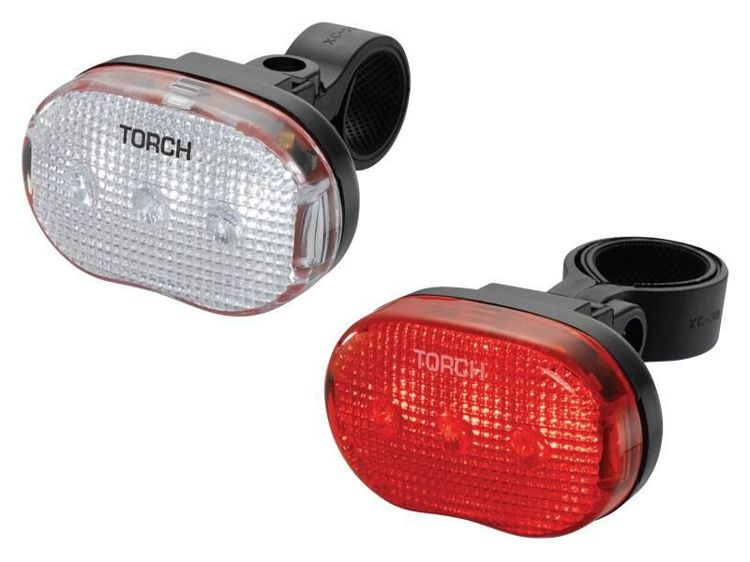 Zestaw lampek TORCH CYCLE LIGHT SET WHITE BRIGHT 3 + TAIL BRIGHT 3