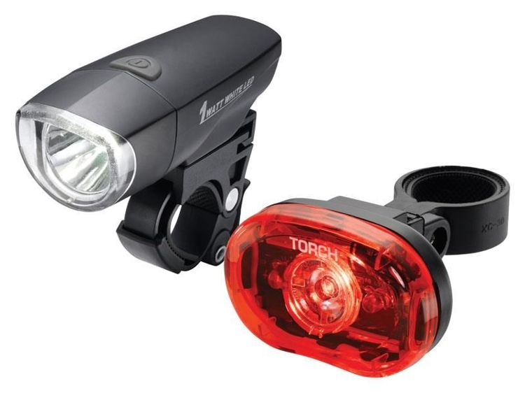 Zestaw lampki TORCH CYCLE LIGHT SET HIGH BEAMER COMPACT 1W + TAIL BRIGHT 0.5W