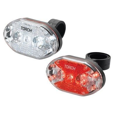 Zestaw lampki TORCH CYCLE LIGHT SET WHITE BRIGHT 9X + TAIL BRIGHT 9X