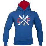 Bluza Trec Nutrition MEN'S TREC WEAR - WHITE LOGO CROSS - HOODIE 004/BLUE