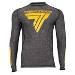 "Koszulka Trec Nutrition MEN'S TREC WEAR - BIG BLACK LOGO ""T"" - RASH 017/LONG SLEEVE/GRAY"